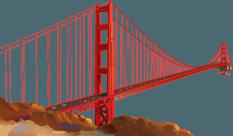 Golden Gate Bridge Clip Art