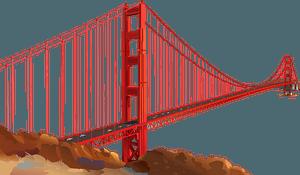 Golden Gate Bridge clipart