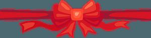 Christmas ribbon clipart