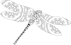 Stylized dragonfly clipart