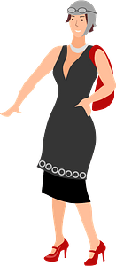 Roaring 20s Woman clipart