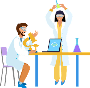 Scientists clipart