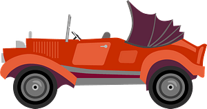 Vintage Coupe Car clipart