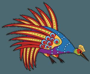 Aboriginal Art Bowerbird clipart
