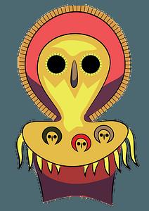 Aboriginal Art Owl clipart
