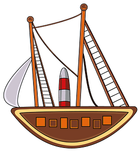 Aboriginal Art Painting Sailing Ship clipart