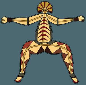 Aboriginal Rock Art Australia clipart