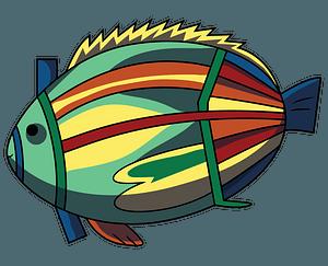Aboriginal Rock Art Fish clipart