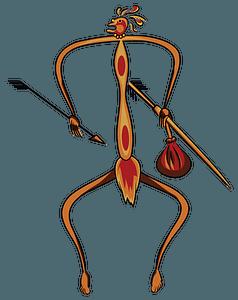 Aboriginal Rock Art Hunter clipart