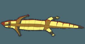 Lizard aboriginal art clipart