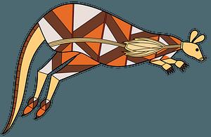 Tribal Australian art Kangaroo clipart