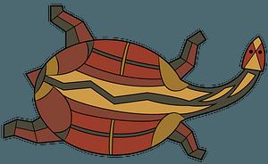 Turtle aboriginal rock art clipart