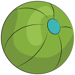 Green beach ball clipart