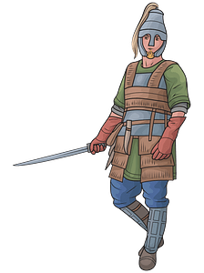 Celtic armored warrior clipart