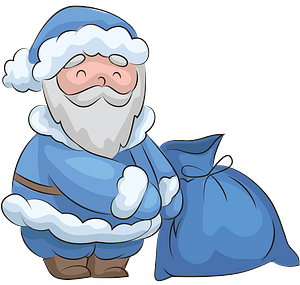 Santa Claus with sack clipart