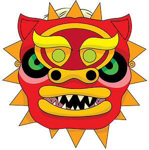 Chinese dragon mask clipart
