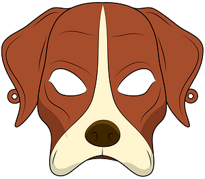 Dog mask clipart