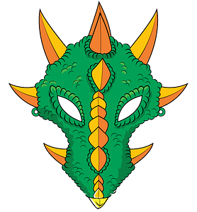 Dragon mask clipart