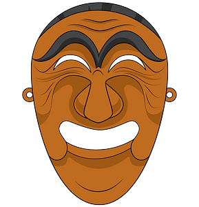 Korean mask of Yangban clipart