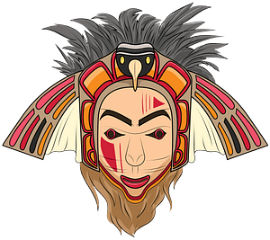 Native American Eagle mask clipart