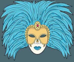 Venetian mask clipart
