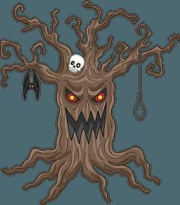 Haunted tree clipart
