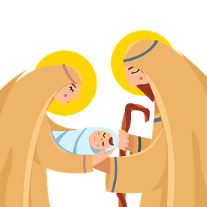 Christmas nativity immagine clipart