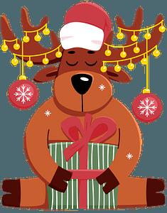 Christmas reindeer immagine clipart