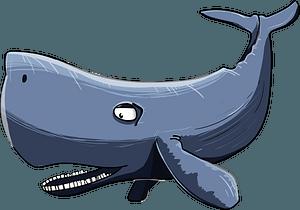 Cartoon whale clipart