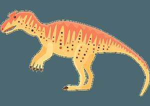 Metriacanthosaurus clipart