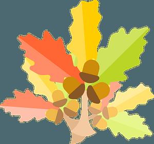 Oak tree leaves clipart