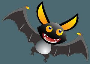 Cartoon bat clipart