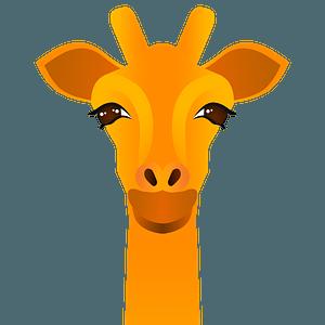 Giraffe face clipart