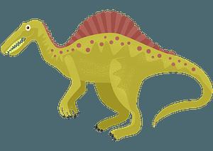 スピノサウルスのクリップアート