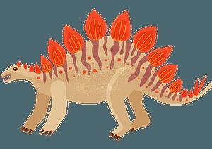 ステゴサウルスのクリップアート