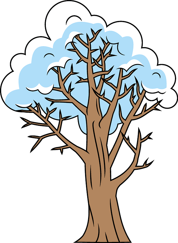 Winter tree clipart