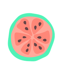 Guava slice clipart