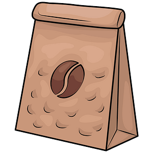 Coffee package clipart