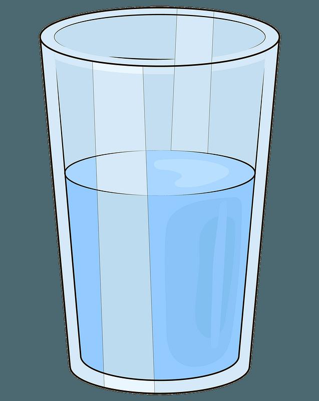 Vaso de agua clipart