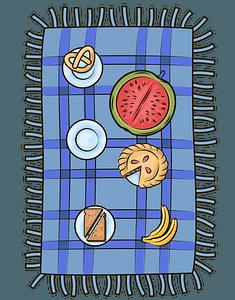Picnic blanket clipart