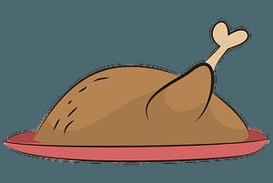 Roast chicken clipart