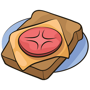 Toast with tomato clipart
