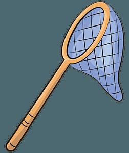 Butterfly net clipart