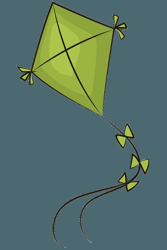 A Kite カイト グリーンカイトのクリップアート。無料ダウンロード。 | creazilla