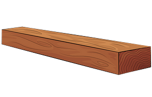 Wooden plank clipart