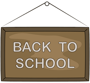 Back to school board clipart