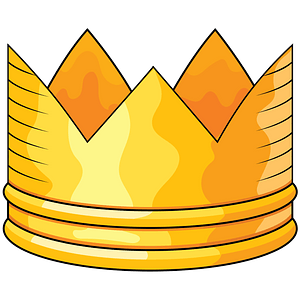 Golden crown clipart