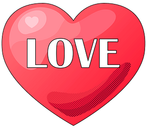 Love heart clipart
