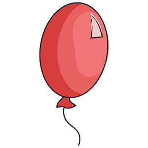 Red balloon clipart
