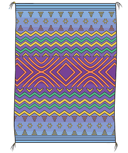 Navajo blanket clipart